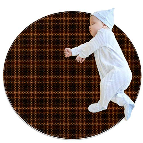 Brown Baby Play Mats - Baby Crawling Mats for Boys and Girls - Children's Room Decor for Play Carpet Floor Carpets