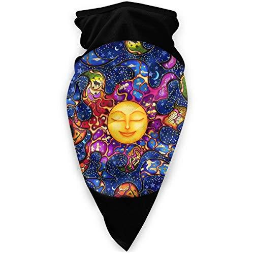 Faithe Keppel Couleur du soleil yeux fermés mignon Cache-cou épais en molleton, chapeau de masque protecteur d'hiver coupe-vent pour la course Guêtre de cou de bandeau