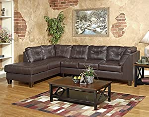 Seats & back are tufted to enhance the contemporary look, heavily padded, yet tailored exceptionally well Extra wide deep seating, comfort attached backs, Covered in an exceptional faux leather, Plush pillow arms and decorative stitching Proudly made...