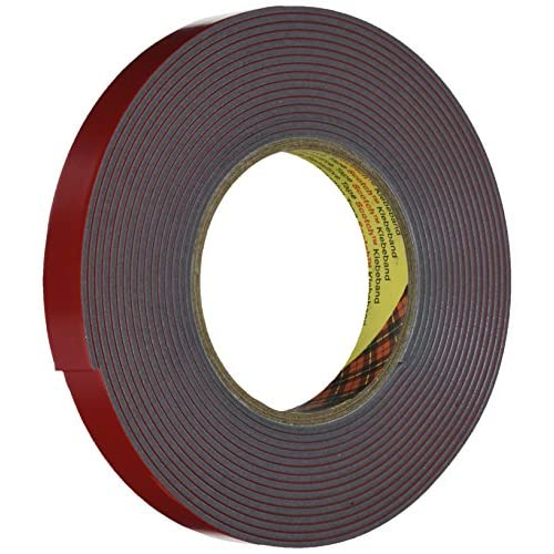 3M VHB Nastro Biadesivo 4991 per Combinazioni di Materiali Diversi, 19 mm x 5.5 m, Spessore 2.3 mm, Grigio, 1 Pezzo