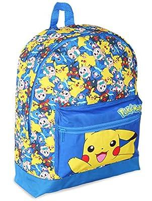 Pokémon Mochilas Escolares Juveniles | Mochila Para Niños Con Pikachu, Litten, Rowlet Y Popplio | Bolso Escolar Niño Y Niña | Bolso De Viaje Para Niños Para La Guardería, La Escuela O El Instituto