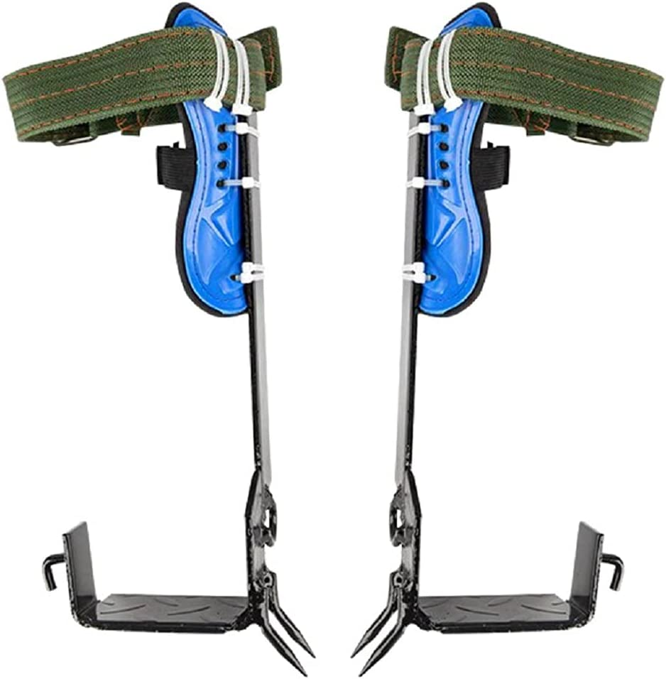 OFFicial site tinsay Adjustable Great interest Tree Climbing Spikes 2 Belt Set A Gears Safety