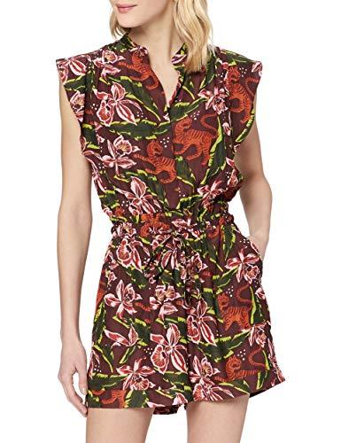 Scotch & Soda Maison Damen Playsuit mit floralem Print Jumpsuit, Mehrfarbig (Combo C 0219), Large (Herstellergröße:L)