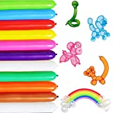 Long Balloons For Balloon Animals Twisting Balloons - 100pcs Balloon Animal Kit 260q Balloons Magic Balloons for Birthday Party Decorations…