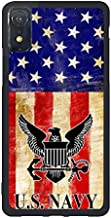 FIDIKO USN Navy US Flag Protective Cases Compatible iPhone XR, Luxury Hard Plastic Durable | Ultra Thin Back Cover Compatible iPhone XR