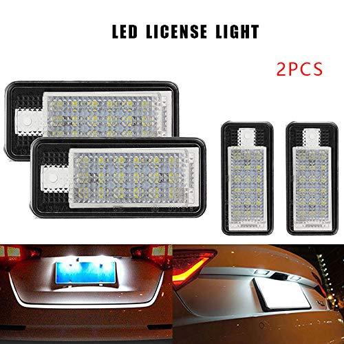 SYWAN 2pcs 12V Kfz Kennzeichenbeleuchtung für A3 8P, A4 B6 + B7 A5 Cabrio, A6 4F, Q7, helle weiße LED Rückleuchte 24SMD