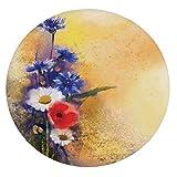 Mantel ajustable de poliéster con bordes elásticos, diseño de flores de...
