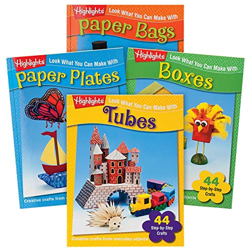 Highlights Look What You Can Make Craft 4-Book Set: Tubes, Paper Plates, Paper Bags and Boxes
