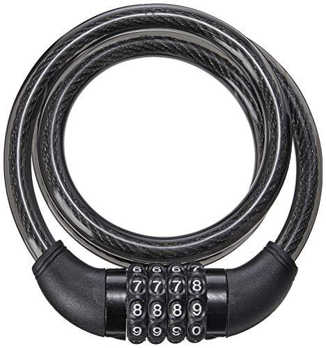 Cadeado com Chave para Bike 12mm de Diâmetro 100cm de Comprimento Aço/Silicone Preto Atrio - BI082