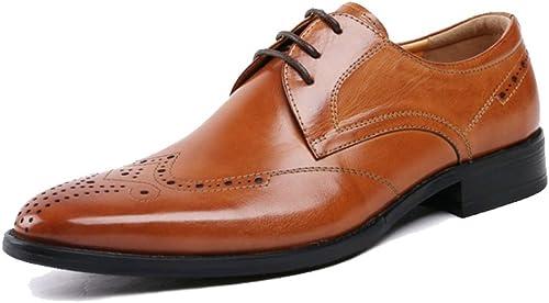 ZQZQ zapatos De Cuero, zapatos De hombres, Negocios, Transpirable, Ponible, Puntiagudo