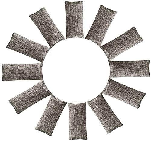 rongrong 12 Packungen natürliche Luftreinigungsbeutel, Luftreiniger Beutel aus Bambus Aktivkohle, Raumerfrischer Natürliche Perfekte Geruchsentferner für Schuhe, Schrank und Sporttasche