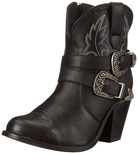 Ladies' Dingo® Pigskin Slouch Harness Boot, BLACK, 8.5W