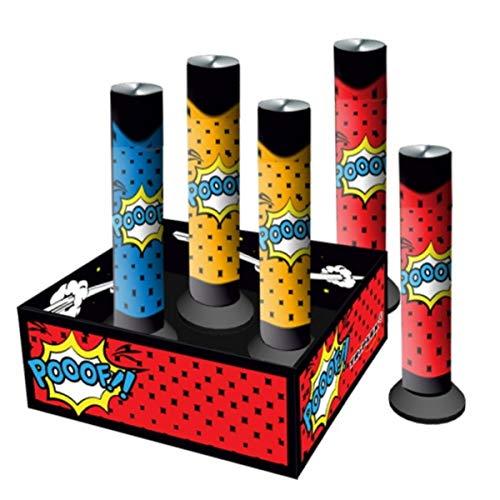 5 x Mini Shot Tube Vulkane Party Feuerwerk