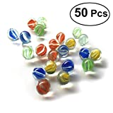 TOYMYTOY 50pcs 16MM Vidrio Modelado Colorido Perlas Bolas de Cristal para niños
