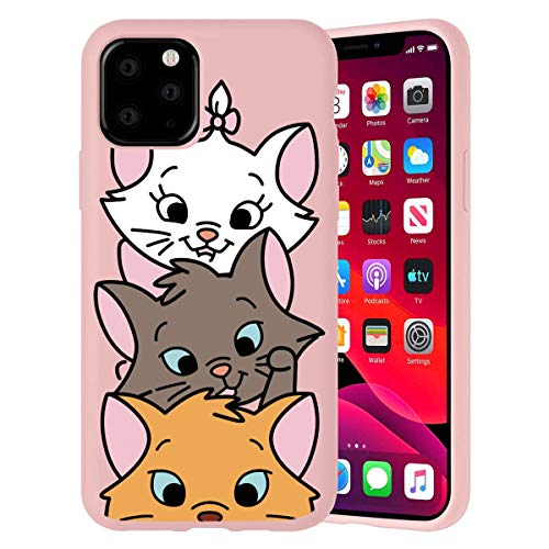 Pnakqil iPhone 11 PRO Max Phone Case, Pink Cute with Pattern Shockproof Soft Flexible TPU Silicone Ultra-Thin Rubber Protective Back Case Cover for Apple iPhone 11 PRO Max Smartphone, Pig