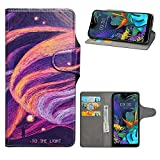 HHDY LG K50 Leder hülle, Painted Muster Wallet Handyhülle