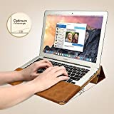 Jisoncase 【MacBook Air 13.3インチ対応PUレザースタンドケース】 PU leather stand case ブラウン JS-AIR-06R20