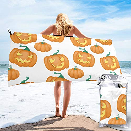 N/F Happy Halloween Black Background Pattern Bath Towels Large Bath Towel Set Super Absorbent And Fast Drying For Bathroom And Beach 2 Sizes Personalized
