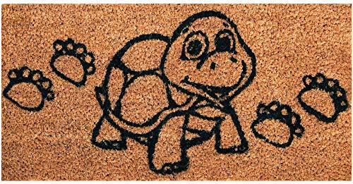 Bestgoodies braune Kokosfaser Fußmatte 25x50 cm (Schildkröte), weitere Motive erhältlich