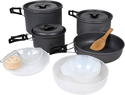 Yodo Anodized Aluminum Camping Cookware Set - Best Camping Cookware Set