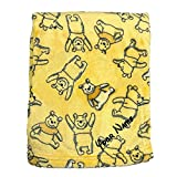 Personalized Winnie The Pooh Fleece Blanket with Custom Name