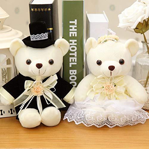 Orsi di peluche per la sposa e lo sposo, decorazione per la tavola di nozze Foto di matrimonio di festa di nozze decorazione di auto di nozze