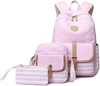 Apostasi Waterproof Stripe School Backpack, for Girls Womens High School College Bookbags,College Vintage Travel Bag for Women,Laptop Women Backpack Travel Outdoor Satchel Rucksack for Student