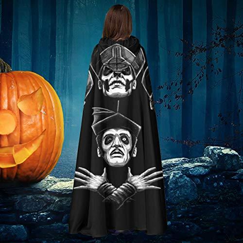 AISFGBJ Macabre Rhapsody - Capa de Disfraz de Bruja con Capucha, Unisex, para Halloween