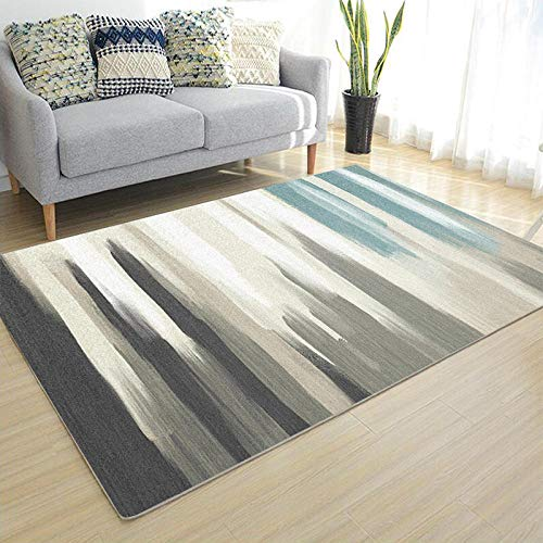 CEOTON Alfombra de salón geométrica minimalista moderna gris dormitorio sala estudio sofá alfombra lava-w058-140 x 209 cm