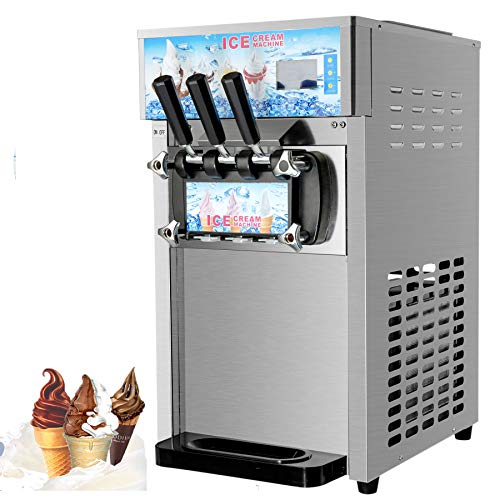 Z ZELUS 1200W Commercial Soft Ice Cream Machine 18L/H Ice Cream Machine...