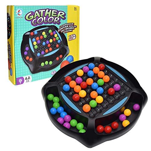 YLLN Rainbow Ball Matching Toy Colorful Fun Puzzle Juego de Mesa de ajedrez con 48 Piezas de Cuentas de Colores, Magic Chess Rainbow Color Match Toy Juguete Educativo Regalo para niños y niñas