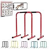 POWRX Dip Barren (Paar) inkl. Workout I Push Up Stand Bar I Dip Station I Fitness Rack I Größen