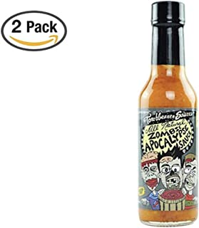 Zombie Apocalypse Ghost Chili Hot Sauce, 5 ounces - All Natural, Vegan, Extract-Free, Made in USA, Featured on Hot Ones! (2 Pack)