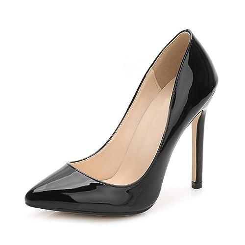 da2362326b2 OCHENTA Women Sexy Pumps PU Closed Toe High Heel Shoes