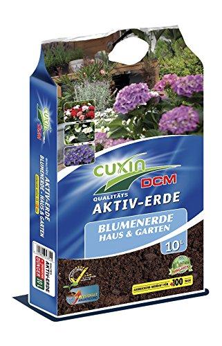 Cuxin Aktiv Gartenerde mit 100 Tage Dünger ⎜ vers. Größen 10-100 L ⎜ Universalerde für Haus und Garten ⎜ ✅+ Gutschein für Bodenanalyse (Universalerde, 10 L)