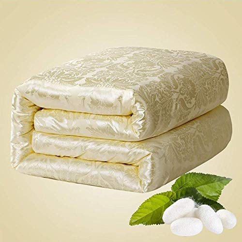 Duvet,Warm Silk Padded Duvet Silky Silk Quilted Duvet for Autumn and Winter King(C,220 * 240cm 4kg)