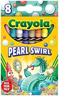 Crayola Pick your Pack Pearl Swirl Crayons - 8 Count