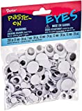 Darice 200-Piece Variety Pack of Round Eyes, Black and White
