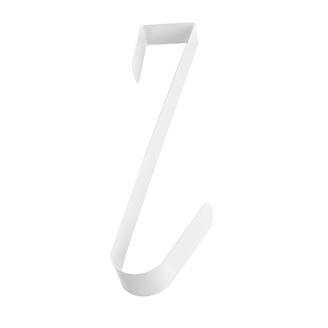 Super Z Outlet White Metal Home Over The Door Wreath Hanger for Bathroom, Bedroom, Coats, Towels (12