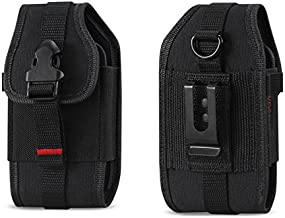 Krofel Pouch Cover Holster Clip for iPhone 11 Pro/Xs/XR/X / 8/7 / Samsung Galaxy Note 10 / S10/S10e / S9/S8/S7/ A10e / CAT S48c / Sonim XP8 / Google Pixel 4/3a/3/2 / Revvlry (Fits w/Hard Case)