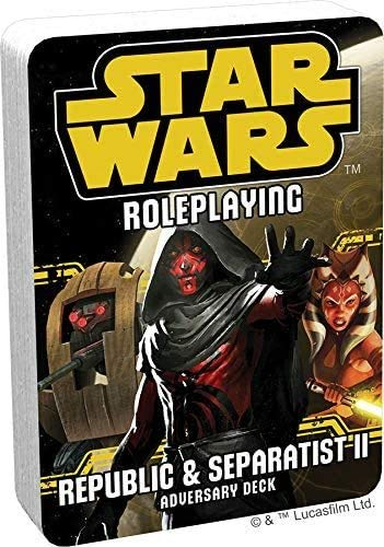 Republic and Separatists 2 Adversary Deck: Star Wars Roleplaying