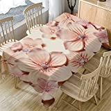 m·kvfa 3D Flower Table Cloth Rectangular Tea Table Cover Dining Home Kitchen Decor Garden Party Indoor Outdoor Tablecloth for Wedding Restaurant Party Coffee Shop Picnic (A)
