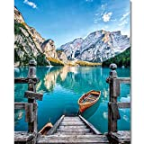 Paint by Numbers for Adults - Natural Landscape Adult Paint by Number for Wall Decor, Dolomiti Mountains Paint...