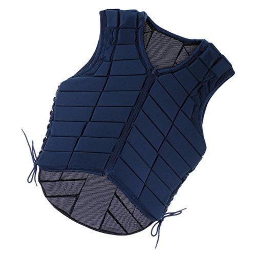 Almencla Niños Chaqueta de Montar a Caballo para Niños Chaleco de Seguridad Ecuestre Protector de Guardaespaldas - Armada, XL de adulto