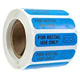 "SBLABELS 500 for Rectal Use Only Stickers / 1.5"" x .375"" Blue Stickers with Permanent Adhesive"