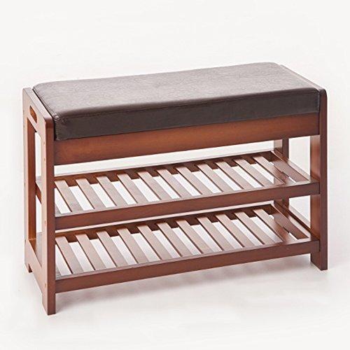 LVZAIXI gewoon massief hout Deur in Sofa kruk Schoenkruk