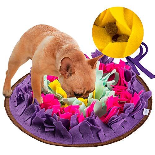 FREESOO Sniffing Tappetino Cani Training Mat Tappetino per Cani Snuffle per Esercizio Mentale Allenamento Relax e Giocattolo per Animali Domestici Viola