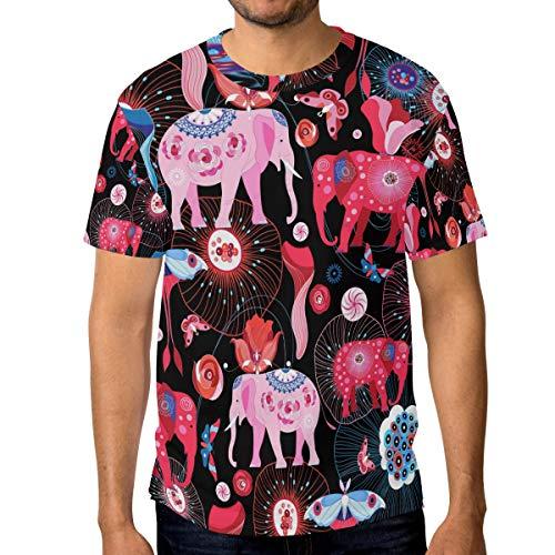 DEZIRO heldere olifanten mannen werkkleding T-Shirt korte mouwen