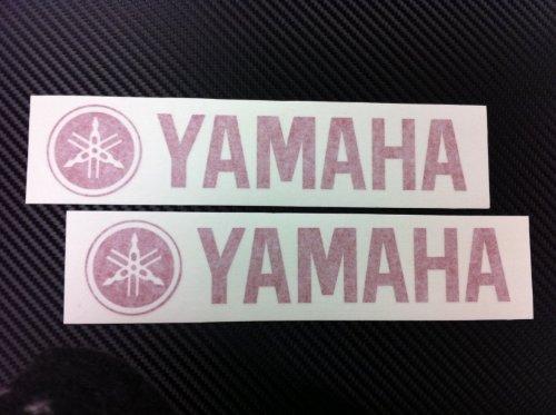 adhesivo 2 X Yamaha Racing Decal Sticker (New) Red Size 203mmx44mm
