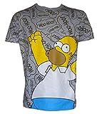 u-wear Mens Simpsons Woohoo Tshirt with 2 Pairs Krusty Clown Socks (Large)